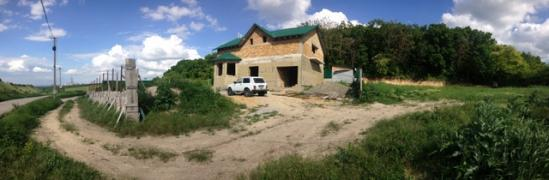 12 acres of land with an unfinished house Simferopol's'kyi district