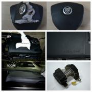 Airbags, seat belts, dashboard (repair)