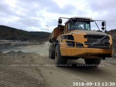 Articulated dump truck VOLVO a 35, 2015, 9300 m/h, from Europe