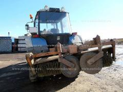 Backhoe loader MTZ 82 P blade, brush, bucket