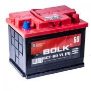 Car battery straight polarity +- Bolk 60 a/h 500A