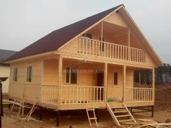 Construction of houses of timber. Frame house turnkey