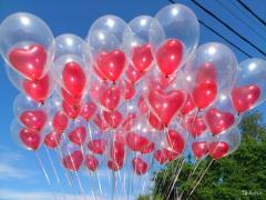 Delivery of balloons in the following region