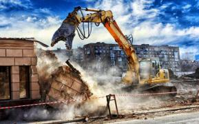 Dismantling of metal structures, buildings and structures