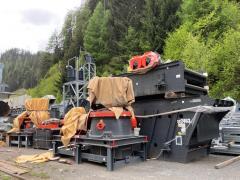 Used sand crushing plant SANDVIK CH 540 CH 550, VSI CV