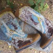 Валенки расписные совушка